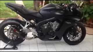 getlinkyoutube.com-Honda CBR650F Akrapovic carbon exhaust