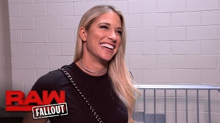 Kelly Kelly visits Raw: Raw Fallout, Feb. 13, 2017