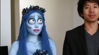 getlinkyoutube.com-Emily (Corpse Bride) Halloween Tutoral