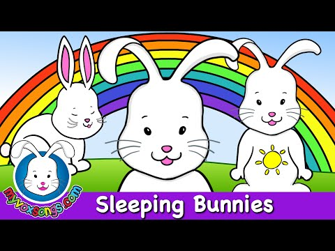 Sleeping Bunnies - Nursery Rhymes - HD