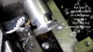 getlinkyoutube.com-The Ultimate Trick: Cutting off  with the Mini Lathe