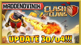 getlinkyoutube.com-Clash of Clans - UPDATE 30/04 - Air Sweeper, Clan Bookmarks and More!!! (Gameplay Commentary)
