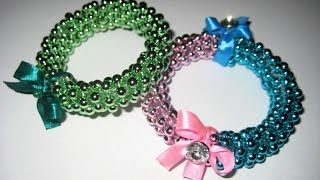 getlinkyoutube.com-DIY Браслеты из бусин и пластиковой бутылки / Bracelet from a plastic bottle / Handmade