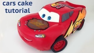 getlinkyoutube.com-Cars Cake Tutorial HOW TO COOK THAT Disney Lightning McQueen Ann Reardon