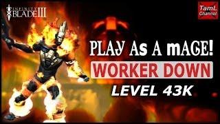 getlinkyoutube.com-Infinity Blade 3: PLAY AS A MAGE! LVL 43K WORKER DOWN!