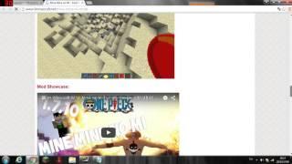 getlinkyoutube.com-สอนโหลด minecaft mod วันพีช 1.7.2  minigame  Balale..