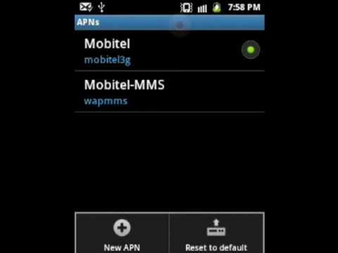 Mobitel MMS settings for android phones