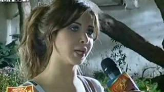 getlinkyoutube.com-Nancy Ajram - Interview & Making Of Meshtaga Leek (Scoop)