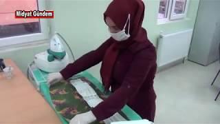 Midyat'ta HEM Usta Öğreticileri gönüllü maske üretiyor