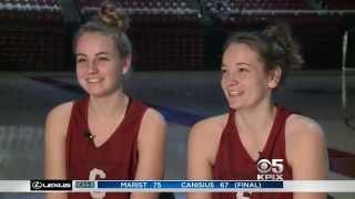 getlinkyoutube.com-KPIX Stanford Women basketball, Karlie and Bonnie Samuelson Feature