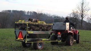 getlinkyoutube.com-ATV / Quad Anhänger für Gärtner und Waldarbeiter Teil 1