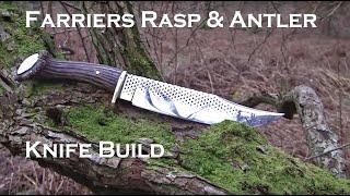 getlinkyoutube.com-Farriers Rasp Forged Knife part 1