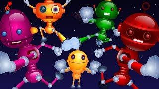getlinkyoutube.com-Nursery Rhymes By Kids Baby Club - Five Little Robots Jumping On The Bed | Nursery Rhymes For Kids