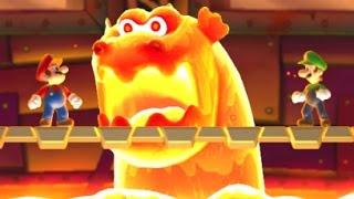 getlinkyoutube.com-New Super Mario Bros. U - All Castle Bosses (2 Player)