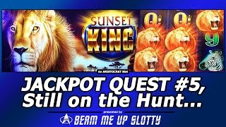 getlinkyoutube.com-Jackpot Quest #5 - Sunset King slot, Still on the Hunt with Live Play/Free Spins