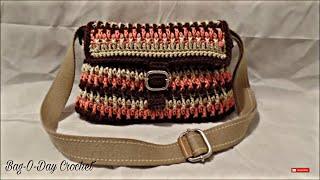 getlinkyoutube.com-CROCHET How to #Crochet Handbag Purse #TUTORIAL #195 LEARN CROCHET