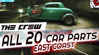 getlinkyoutube.com-The Crew - All Hidden Car Wreck Parts EAST COAST - Achievement/Trophy Guide - Hot Rod Scrap Salvager