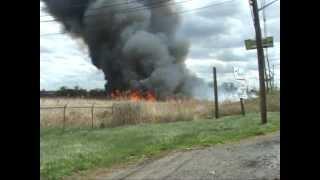 getlinkyoutube.com-Carlstadt,nj Fire Department Multiple Alarm Brush Fire  Part 1 of 2