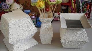 getlinkyoutube.com-Vaso com caixa de leite - passo a passo - tutorial - diy - artesanato - reciclagem