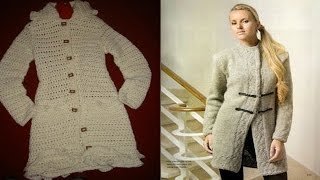 getlinkyoutube.com-Abrigos y Tapados Mujer tejidos a Crochet ( Imagenes )