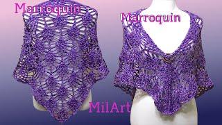 getlinkyoutube.com-Chal Piñas Elegante y Fácil Crochet