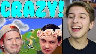 Tyler and Josh Happy Wheels Adventure Reaction | Twenty One Pilots TØP