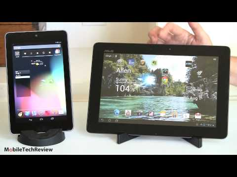 Google Nexus 7 vs. Asus Transformer Pad Infinity TF700 Comparison Smackdown