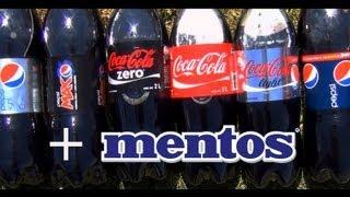 getlinkyoutube.com-Asi se explotan los refrescos sin fuego ni cohetes ni gas. Coca Cola Light Diet Coke Zero + Mentos