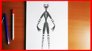 getlinkyoutube.com-How to draw The Puppet  Five Nights at Freddy's characters