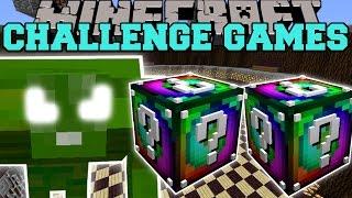 getlinkyoutube.com-Minecraft: GREEN MONSTER CHALLENGE GAMES - Lucky Block Mod - Modded Mini-Game