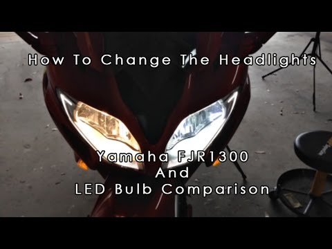 FJR1300 Headlight Bulb Replacement And LED Comparison