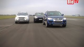 getlinkyoutube.com-Touareg vs. ML63 AMG vs. Cayenne GTS