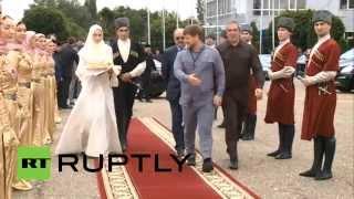 getlinkyoutube.com-أول زيارة رسمية للملك الأردني عبدالله الثاني الى جمهورية الشيشان الروسية