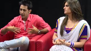 getlinkyoutube.com-Spl. Interview with Bollywood Actress Zareen Khan &  Artist Gippy Grewal on Ajit Web Tv.