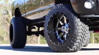 "getlinkyoutube.com-2008 Dodge 2500 8"" lift with 37s on 22x14s"