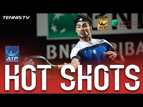 Fognini Blasts Trio Of Fantastic Forehand Hot Shots In Rome 2017
