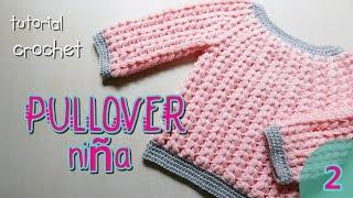 getlinkyoutube.com-Como tejer a crochet pulover, saco (2/2)