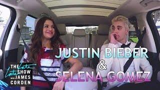 getlinkyoutube.com-Justin Bieber & Selena Gomez Carpool Karaoke