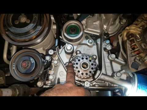 Hyundai Getz timing belt alternator bracket water pump timing belt tensioner spring