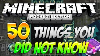 50 Things You Did Not Know About MCPE! - 1.0.3 | Minecraft Pocket Edition/Minecraft PE Facts