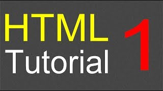 HTML Tutorial for Beginners - 01 - Creating the first web page width=