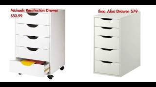 IKEA DRAWER DUPE!! Michaels Recollection Drawers!