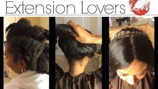 getlinkyoutube.com-My Process Before Lace frontal sew in - NO Glue - on Natural 4b/4c hair - Los Angeles