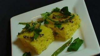 getlinkyoutube.com-How to make Sooji Dhokla - Indian Appetizer Video Recipe
