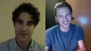 getlinkyoutube.com-Darren Criss & Aaron Tveit Skype Duet - 'Take Me or Leave Me'