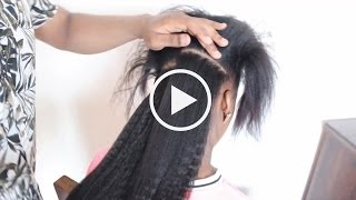 getlinkyoutube.com-How to Install Clip Ins on Relaxed and Natural Hair Knappy Hair Extensions
