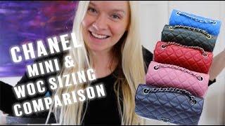 getlinkyoutube.com-Chanel Mini & WOC Handbag Sizing Comparison | Opulent Habits