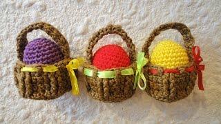 getlinkyoutube.com-Пасхальная корзинка Easter basket Crochet