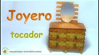 getlinkyoutube.com-Manualidades: joyero tocador hecho con pinzas de madera / crafts