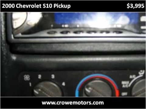 2000 chevrolet s10 owners manual